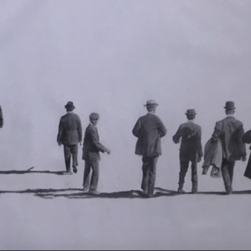 Caminantes  Graphite on canvas  100x160cm  CHF 7950